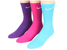 Nike Kids Lightweight Cotton Cushion Moisture Management Crew 3-Pair Pack