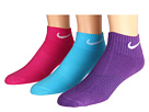 Nike Kids Lightweight Cotton Cushion Moisture Management Quarter 3-Pair Pack