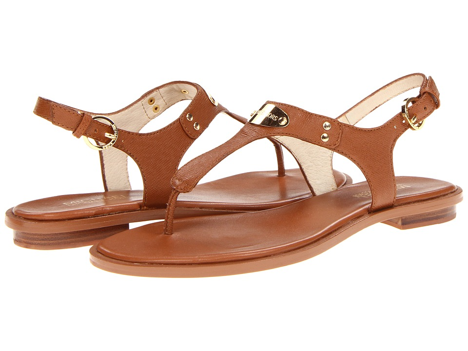 MICHAEL Michael Kors - MK Plate Thong (Luggage) Womens Sandals
