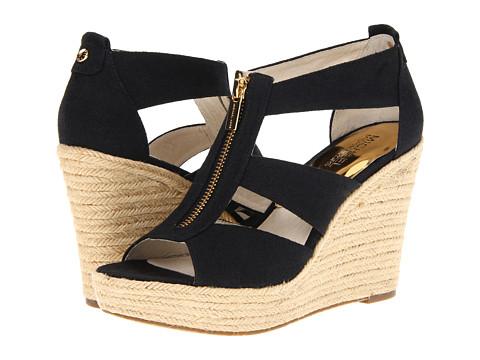 michael kors black sandals zipper