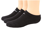 Nike Kids Cotton Cushion No Show Socks w/ Moisture Management 3-Pair Pack