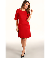Jessica Howard - Elbow Sleeve Cable Sweater Dress w/Button Pockets