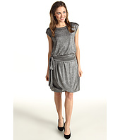 Jessica Howard - Short Sleeve Tie Waist Blouson Dress w/Faux Wrap Skirt