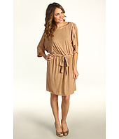 Jessica Howard - 3/4 Sleeve Tie Waist Blouson Dress