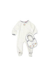 Juicy Couture Kids - Striped One-Piece w/ Bib Set (Infant)