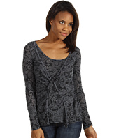 Roper - Floral Burnout Layered Top w/Twist Front