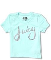 Juicy Couture Kids - Juicy Glitter Script S/S Tee (Toddler/Little Kids/Big Kids)