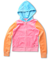 Juicy Couture Kids - Color Block Velour Hoodie (Toddler/Little Kids/Big Kids)