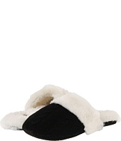 Anne Klein - Cashmere Cable Knit Mule Indoor Slipper w/ Fur Trim