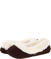 Anne Klein - Faux Suede w/ Thick Fur Trim Ballet Indoor Slipper