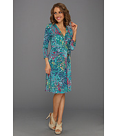 BCBGMAXAZRIA - Knit Wrap Dress with Multicolors
