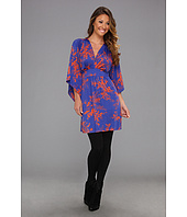 Tbags Los Angeles - Deep V-Neck Kimono Sleeve Mini Dress w/ Tie Waist