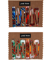 Jane Tran - Multi Plaid Hair Clips