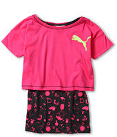 Puma Kids - Crop 2 For 1 w/ Splatter Tank Top (Big Kids)