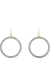 NUNU - Gold Blackened Hoops w/ Stones