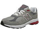 New Balance Kids KJ990V3 Big Kid Grey, Red Shoes