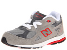 New Balance Kids KJ990V3 Infant, Toddler Grey, Red Shoes