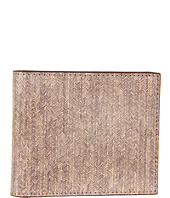 Jack Spade - Hand Drawn Herringbone Printed Leather Bill Holder