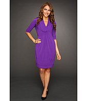 Donna Ricco - 3/4 Sleeve Cowl Neck Dress