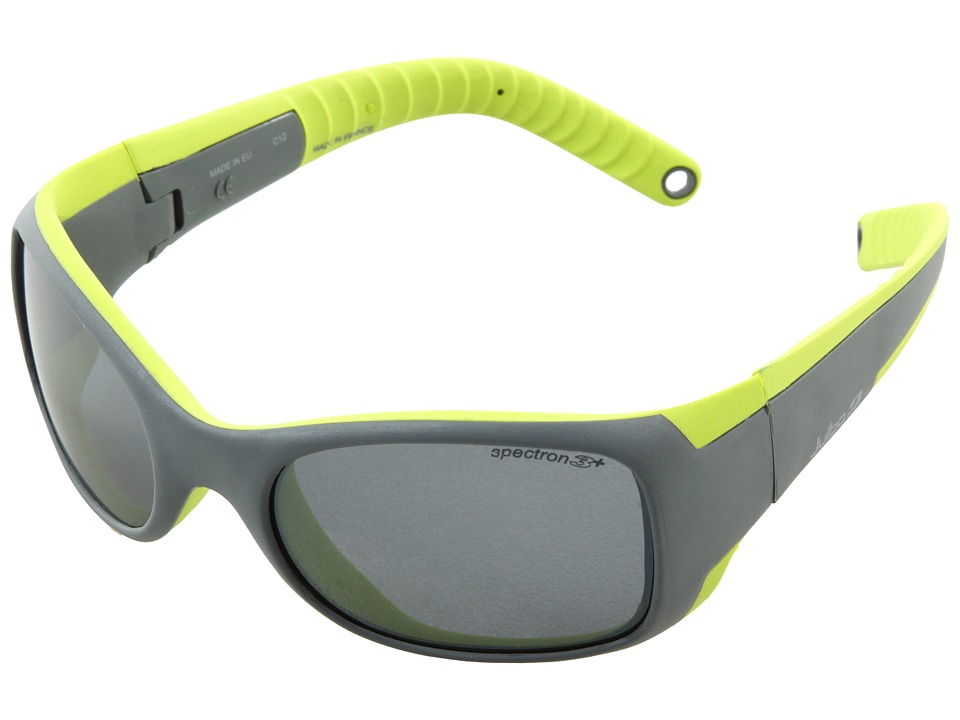 Julbo Eyewear Booba Little Kids Grey/Lime Athletic Performance Sport Sunglasses