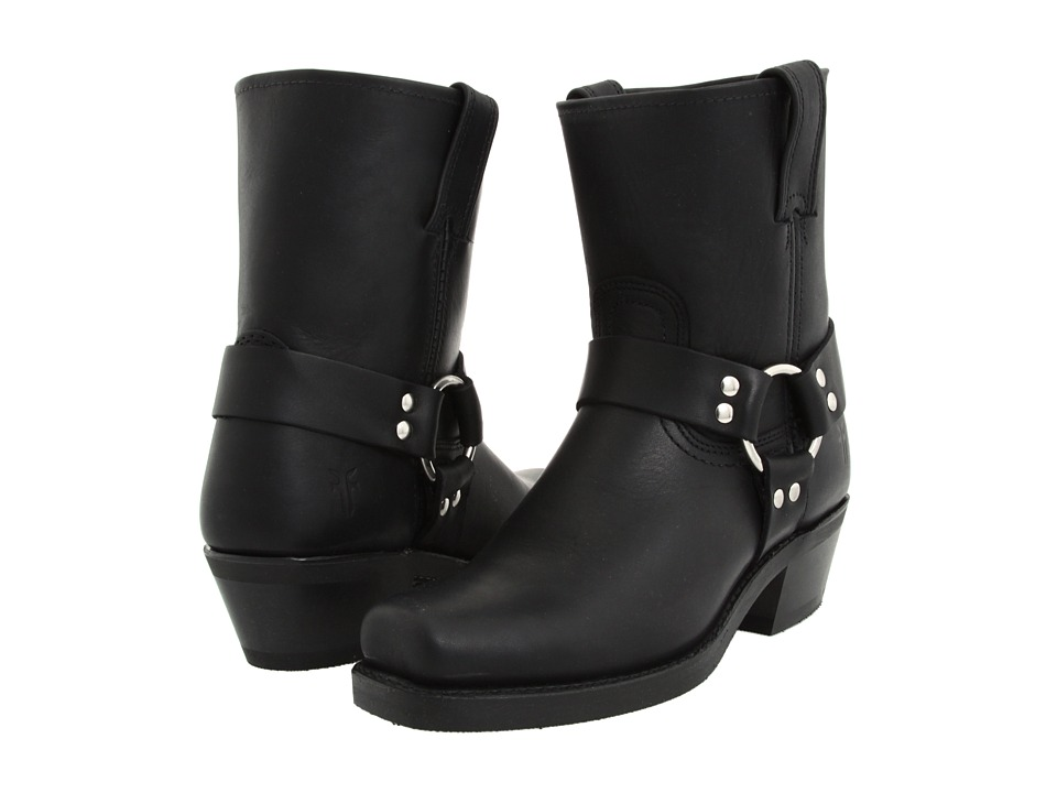 Frye Harness 8R W (Black Leather)