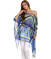 Just Cavalli - Madrepora Silk Print Off Shoulder Tunic