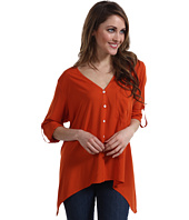 Karen Kane - Rolled Sleeve Pocket Shirt