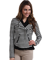Karen Kane - Small Stripe Ponte Motorcycle Jacket