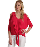 Karen Kane - Cold Shoulder Tie Front Top