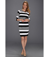 Karen Kane - Printed Stripe 3/4 Sleeve Dress