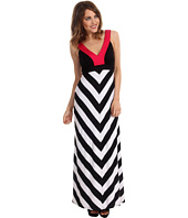 Karen Kane - Black Stripe Banded Maxi Dress