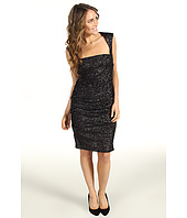 Nicole Miller - Swirly Sequins Cutout Back Dress