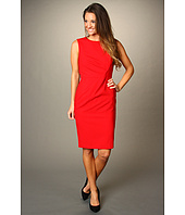 Calvin Klein - Sheath Dress With Asymmetric Waist Pleats