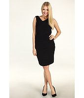 Calvin Klein - Shift Dress With Asymmetric Pleats
