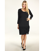 Calvin Klein - Drop Waist Dress With Tiered Fringe
