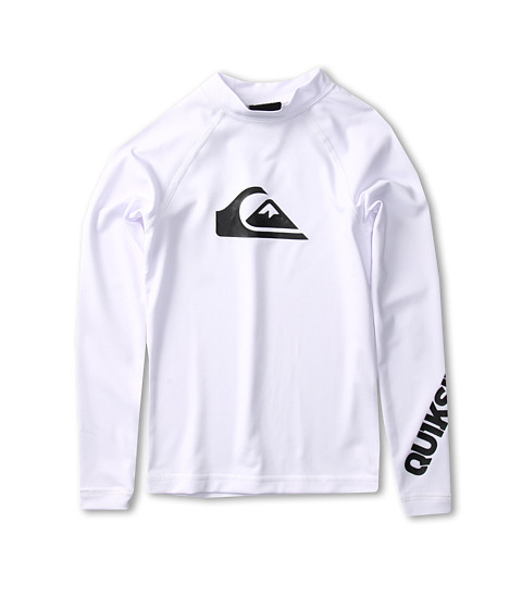 Shop Quiksilver Kids - All Time L, S Rashguard Little Kids, Big Kids White  and Quiksilver Kids online - Boys, Clothing, Swimwear, Swimsuit Tops online Store