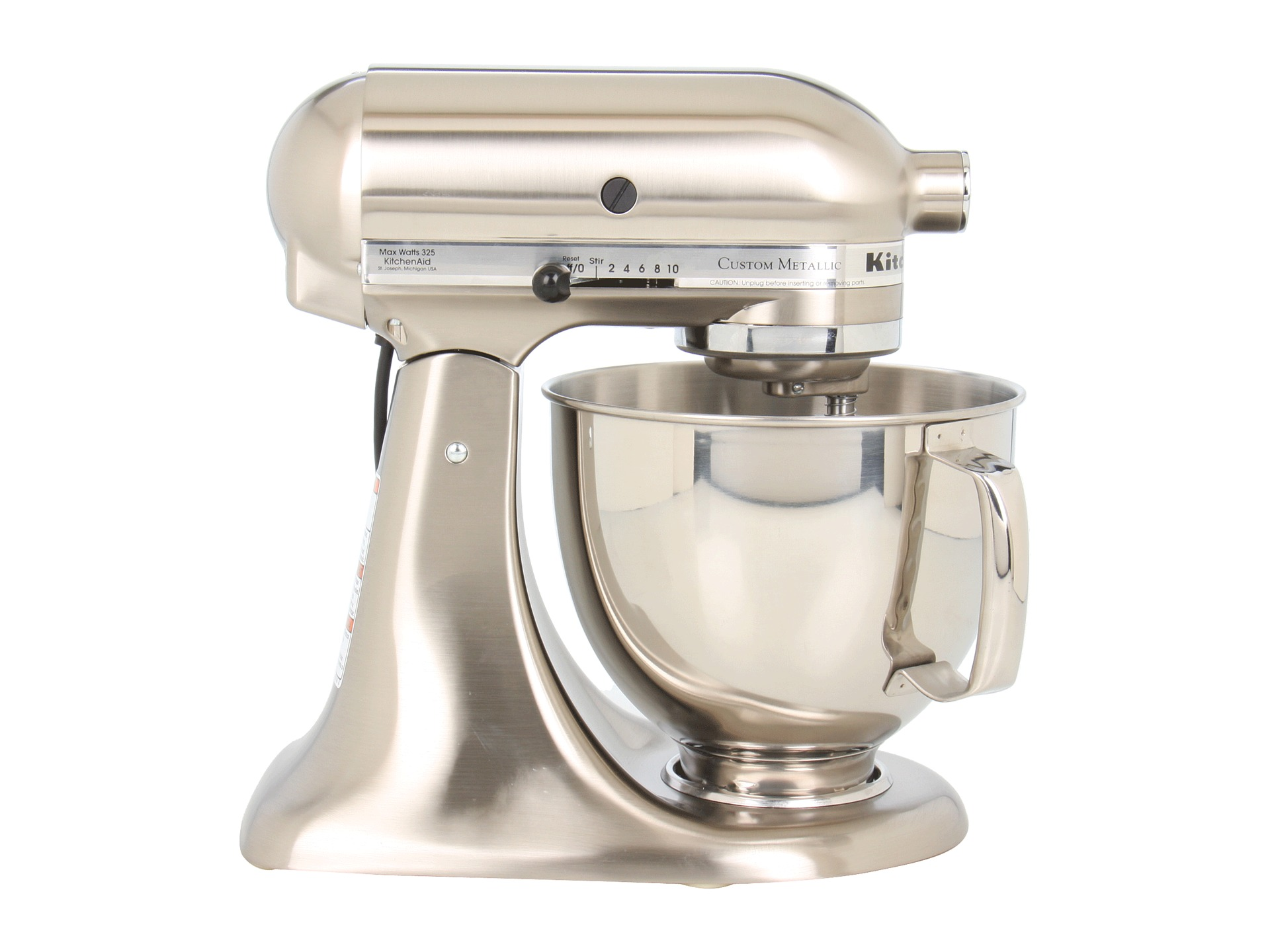 Kitchenaid ksm152ps custom metallic series 5 qt stand for Kitchenaid f series accessories