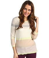 Autumn Cashmere - Three-Quarter Sleeve Striped Hi Lo Top