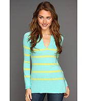 Autumn Cashmere - Sailor Stripe Split Crew Top