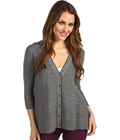 Autumn Cashmere - Mini Sripe Flared Cardigan