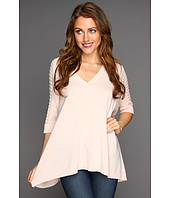 Autumn Cashmere - Rectangle V-Neck with Pointelle Top