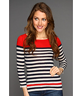 Autumn Cashmere - Engineered Stripe Crew Top