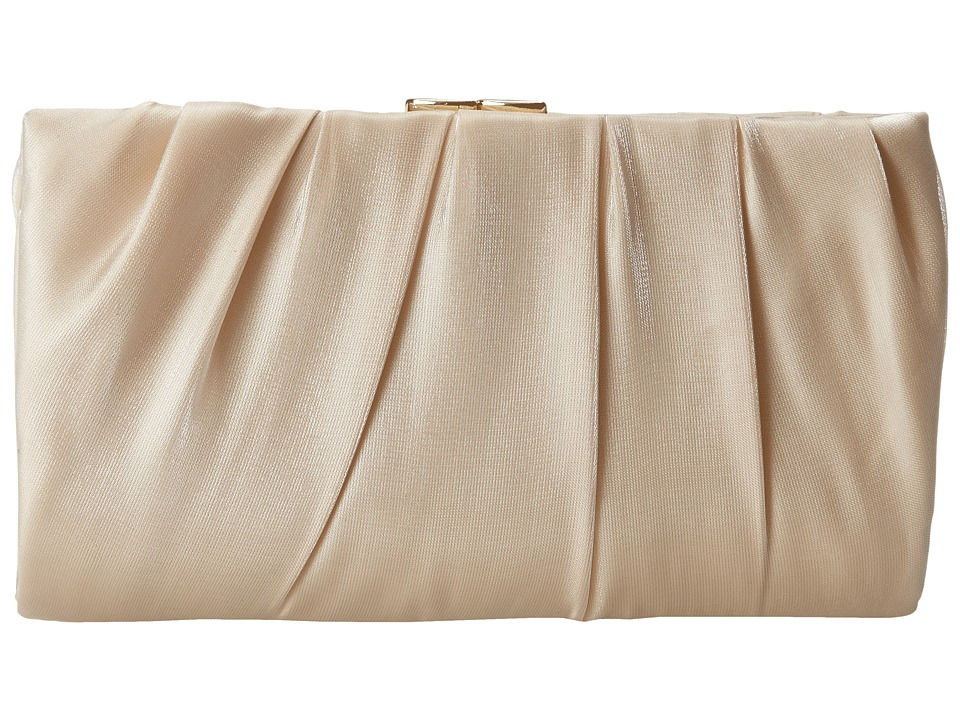 Nina - Larry (Champagne) Clutch Handbags