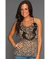Rock and Roll Cowgirl - Leopard Tank Top