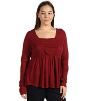 Lucky Brand - Plus Size Tribal Patched Rouched Top