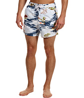 Lacoste - L!VE Drawstring Hawaiian Print Swim Trunk
