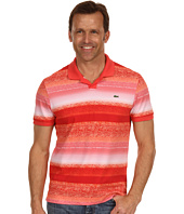 Lacoste - S/S Mini Pique Ocean Print Johnny Collar Polo Shirt