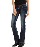 Rock and Roll Cowgirl - Low Rise Boot Cut Jean in Medium Wash