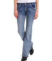 Rock and Roll Cowgirl - Low Rise Boot Cut Jean in Light Wash