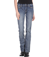 Rock and Roll Cowgirl - Mid Rise Boot Cut Jean in Medium Wash